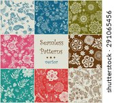 set of seamless vector colorful ... | Shutterstock .eps vector #291065456
