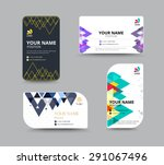 business card template with... | Shutterstock .eps vector #291067496