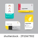 business card template. name... | Shutterstock .eps vector #291067502