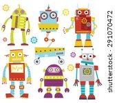 cute robots | Shutterstock .eps vector #291070472