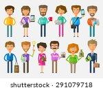teamwork vector logo design... | Shutterstock .eps vector #291079718