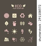 vector flat icon set   eco | Shutterstock .eps vector #291108572
