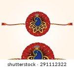 decorated rakhi for raksha... | Shutterstock .eps vector #291112322