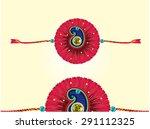 decorated rakhi for raksha... | Shutterstock .eps vector #291112325