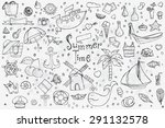a big hand drown set on white... | Shutterstock .eps vector #291132578