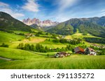 dolomites alps  mountain   val... | Shutterstock . vector #291135272