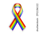 rainbow ribbons. isolated on... | Shutterstock .eps vector #291136112