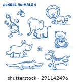 Cute Cartoon Jungle Safari...