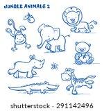 Cute Cartoon Jungle Safari...