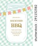 bbq summer invitation template... | Shutterstock .eps vector #291152582