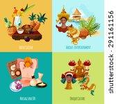 thailand touristic design... | Shutterstock .eps vector #291161156