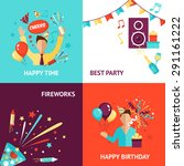 party design concept set with... | Shutterstock .eps vector #291161222