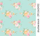 vintage flowers background  ... | Shutterstock .eps vector #291162452