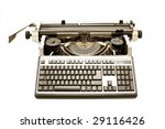 old typewriter with modern pc... | Shutterstock . vector #29116426