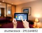 remote home control system on a ... | Shutterstock . vector #291164852