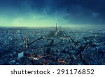 paris skyline at sunset  france | Shutterstock . vector #291176852