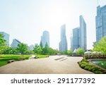 park in lujiazui financial... | Shutterstock . vector #291177392