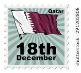 post stamp of national day of... | Shutterstock .eps vector #291202808