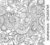 cartoon doodles  hand drawn...   Shutterstock .eps vector #291203765
