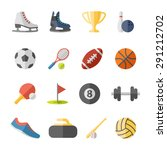 fitness and sport icons for web ... | Shutterstock . vector #291212702
