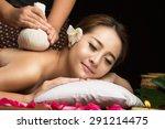 asian woman getting thai herbal ... | Shutterstock . vector #291214475