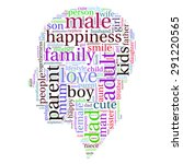 family info text graphics and... | Shutterstock .eps vector #291220565