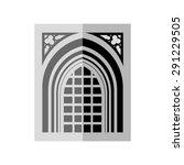 arch in grey   black | Shutterstock .eps vector #291229505