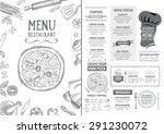 restaurant cafe menu  template...   Shutterstock .eps vector #291230072
