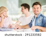 group of young creative people... | Shutterstock . vector #291233582