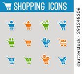 set of vector shopping icons | Shutterstock .eps vector #291248306