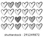 vector heart shape | Shutterstock .eps vector #291249872