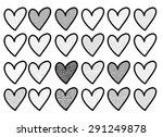 vector heart shape | Shutterstock .eps vector #291249878