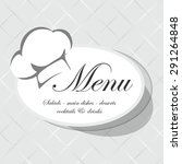 menu | Shutterstock .eps vector #291264848