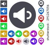 color volume down icon  button  ...