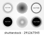halftone background set... | Shutterstock .eps vector #291267545