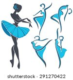 silhouette of beauty ballet...