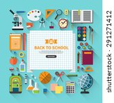 back to school flat design... | Shutterstock .eps vector #291271412