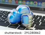 cloud computing service  remote ... | Shutterstock . vector #291280862