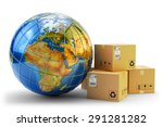 international package delivery... | Shutterstock . vector #291281282