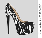 fashion typography  shoe... | Shutterstock .eps vector #291284558