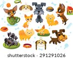 big collection cartoon dogs | Shutterstock .eps vector #291291026