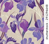 floral seamless pattern. flower ... | Shutterstock .eps vector #291296648