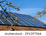 solar panels on the roof | Shutterstock . vector #291297566