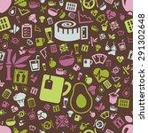 diet seamless pattern | Shutterstock .eps vector #291302648