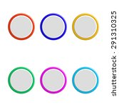 set of colorful 3d buttons. | Shutterstock . vector #291310325