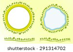 eco friendly globe with trees...   Shutterstock .eps vector #291314702