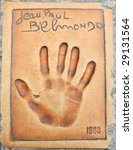 ������, ������: Hand print of Jean