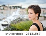 beautiful model on the balcony... | Shutterstock . vector #29131567