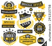 black and yellow stickers ... | Shutterstock .eps vector #291315758