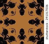 circular seamless  pattern of ... | Shutterstock . vector #291317036